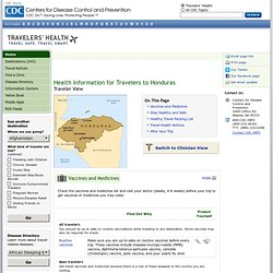 Health Information for Travelers to Honduras - Traveler view
