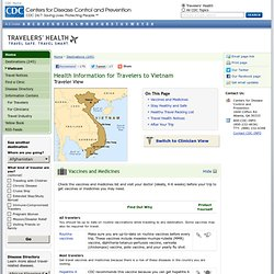 Health Information for Travelers to Vietnam - Travelers' Health - CDC