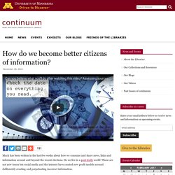 How do we become better citizens of information?