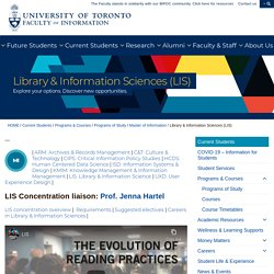 Library & Information Sciences (LIS) - Faculty of Information (iSchool)