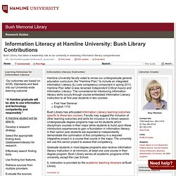 Home - Information Literacy at Bush Library - Bush Library Guides at Hamline University