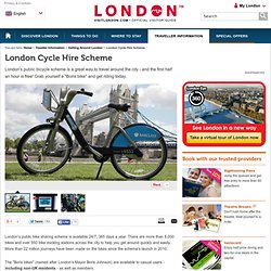 London Cycle Hire Scheme - Traveller Information