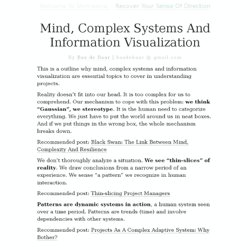 Mind, Complex Systems And Information Visualization