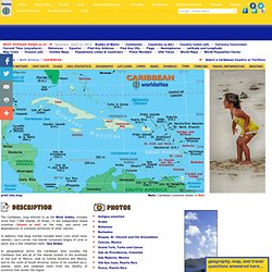 Caribbean Map, Map of Puerto Rico, Map of Cuba, Map of Jamaica. Caribbean Islands Travel Information