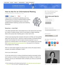 How to Ask for an Informational Meeting