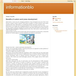 informationblo: Benefits of custom word press development