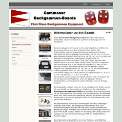 Informationen zu den Boards - Gammoner - First Class Backgammon Equipment for professional Players
