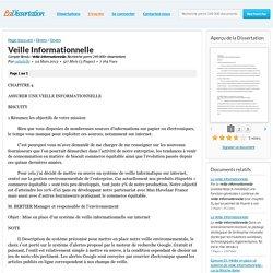 Veille Informationnelle - Compte Rendu - caludelle