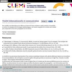 Viralité informationnelle et communication- CLEMI