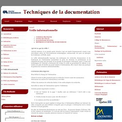 Techniques de la documentation