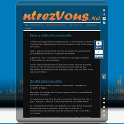Faire sa veille informationnelle « MontrezVous.net