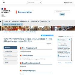 Veille informationnelle : principes, enjeux, stratégie et outils (BTS Assistant de gestion PME-PMI)