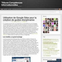 Utilisation de Google Sites pour la création de guides disciplinaires