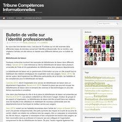 Bulletin de veille sur l'identité professionnelle