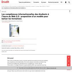 Les compétences informationnelles des étudiants à… – Documentation et bibliothèques – Érudit