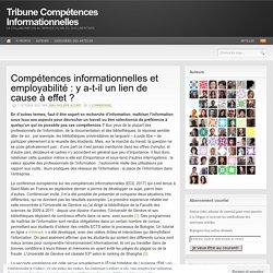 Compétences informationnelles et employabilité : y a-t-il un lien de cause à effet ?