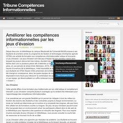 Améliorer les compétences informationnelles par les jeux d'évasion – Tribune Compétences Informationnelles