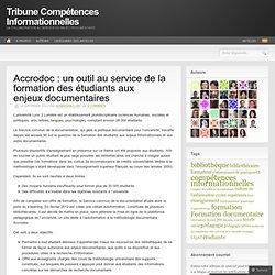 Accrodoc: un outil au service de la formation des étudiants aux enjeux documentaires