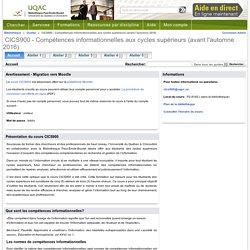 Accueil - CICS900 - Compétences informationnelles aux cycles supérieurs (avant l'automne 2016) - Guides at Bibliothèque Paul-Émile-Boulet - UQAC