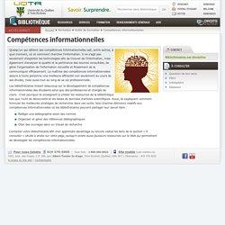 Compétences informationnelles - Bibliothèque - Université du Québec à Trois-Rivières