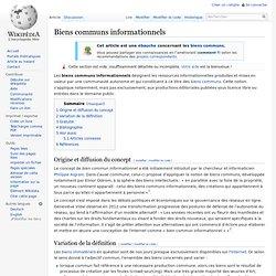 Biens communs informationnels