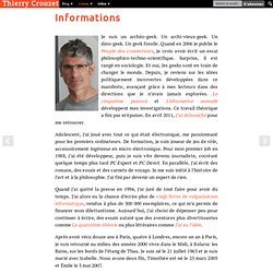 Crouzet Thierry - son blog Informations