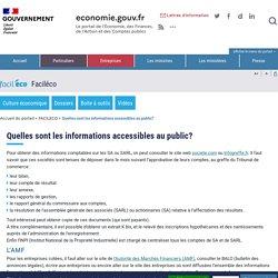 Quelles sont les informations accessibles au public?