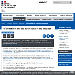 Informations sur les addictions et les drogues - solidarites-sante.gouv.fr