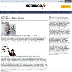 Base de données + Informations + Entreprise + Contacts