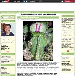 Informations generales sur les plantes carnivores