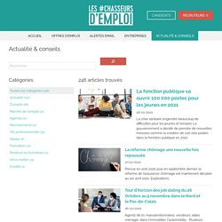 Articles et informations sur les carrières sur Les #Chasseurs d'Emploi