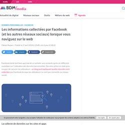 Les informations collectées par Facebook (et les autres réseaux sociaux) lorsque vous naviguez sur le web