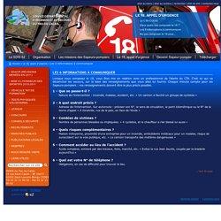 SDIS 62 - Les 6 informations à communiquer / Le 18, appel d'urgence / Accueil