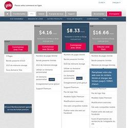 Comparez les forfaits de site web avec Yola.com