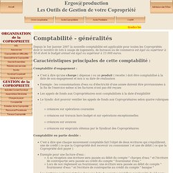 Informations de la copropriété - Comptabilité généralités