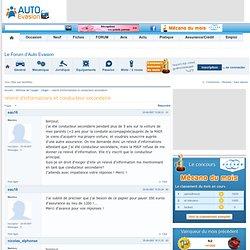 relevé d'informations et conducteur secondaire - Défense de l'usager litige assurance, vente, achat, vice caché