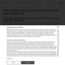 Informations sur la politique de confidentialité