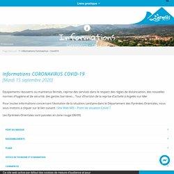Informations Coronavirus – Covid19
