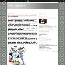 Pour commencer, quelques informations sur l'origine de la cybercriminalité - Le blog d'Agathe Guyomard et Fanny Fortin