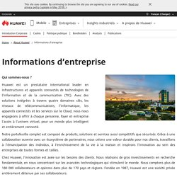 Informations d'entreprise