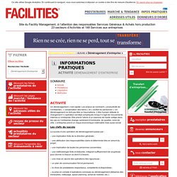 Informations pratiques déménagement - Facilities.fr, site du Facility management