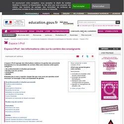 Espace I-Prof : les informations clés sur la carrière des enseignants