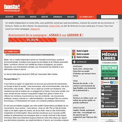 Site d'informations indépendant sur les enjeux sociaux et environnementaux
