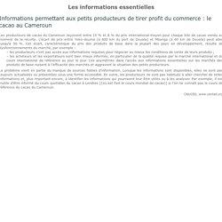 Document 10 – Les informations essentielles