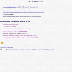 Informations sur la filière ES