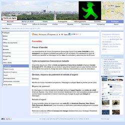 Berlin pratique : Informations utiles, Formalités, Pièces d'identité, Carte européenne d'assurance maladie, Devises, moyens de paiement et retraits d'argent