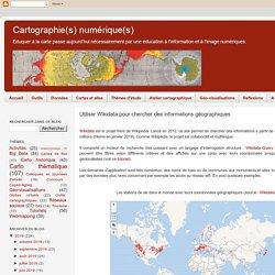 Utiliser Wikidata pour chercher des informations géographiques