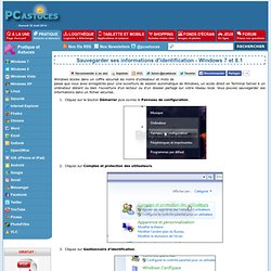 Sauvegarder ses informations d'identification - Windows 7 et 8.1