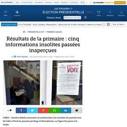 Résultats de la primaire : cinq informations insolites passées inaperçues