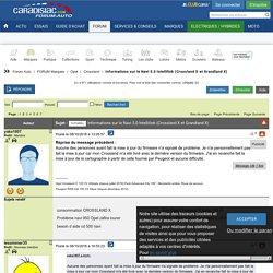 Informations sur le Navi 5.0 Intellilink (Crossland X et Grandland X) - Page : 2 - Crossland - Opel